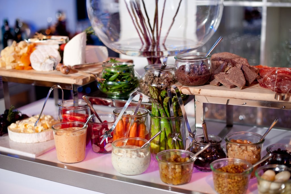 Food stations bars twist catering for Food bar catering